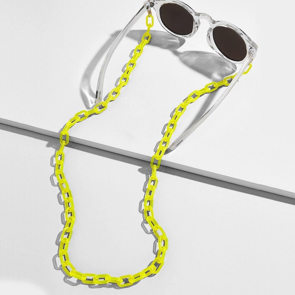 Модные цепочки для очков для женщин, широкие акриловые цепочки, противоскользящий регулируемый шнур для очков, держатель для очков, шейный ремешок, веревка для очков для чтения|Аксессуары для очков| | - AliExpress