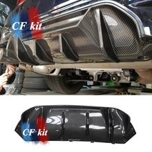 CF Kit P Style Real Carbon Fiber Rear Bumper Lip Spoiler Diffuser For BMW 5 Series F90 M5 Car Styling real sociedad villarreal cf