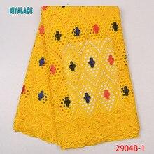 Желтый Африканский качество супер воск ткань для платья вечерние, настоящий Блок Печатный воск кружева ткани хлопок YA2904B-1