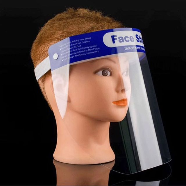 5Pcs New Anti-saliva Child Kid Transparent Protective Mask Adjustable Dust-proof Full Face Cover Children Mask Visor Shield 1