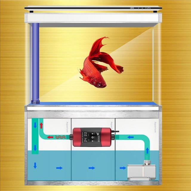 1200W Aquarium chauffage externe réservoir de poisson numérique eau chauffage tige automatique constante température contrôle Thermostat 220V