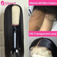 AliPearl HD Transparent Spitze Perücken Vor Gezupft Brasilianische Gerade Spitze Front Menschliches Haar Perücken Für Schwarze Frauen Remy 180% Dichte