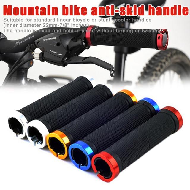1 par de manillar de bicicleta de carretera de goma antideslizante Bloqueo de bicicleta en los extremos y T8