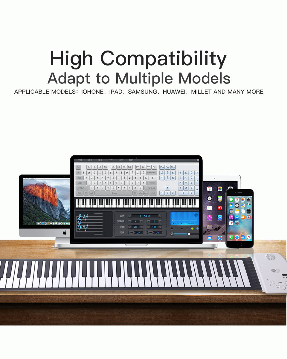 Teclado De Piano Digital Portátil Para Principiantes Instrumento Musical Electrónico Midi De 49 Teclas Controlador Suave Sintetizador Enrolladas Piano Aliexpress