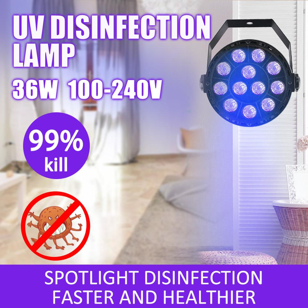LED 36W Disinfection UV Lamp Home Ultraviolet Sterilization Germicidal Bacterial Disinfect Virus Lights US/EU/UK/AU Plug