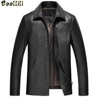 Boollili Men's Genuine Leather Jacket Spring Autumn Jacket Men Plus Size Sheepskin Leather Jackets Jaqueta De Couro