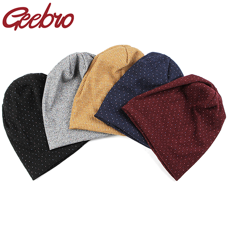 Geebro Slouchy Winter Hat Women Multicolor Ribbed Cotton Beanies For Ladies Stretch Beanies Skullies Hats Girls Bonnet Gifts