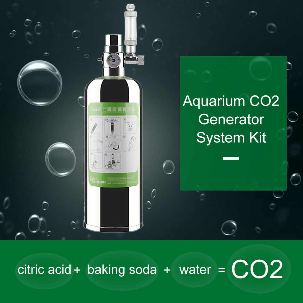 7 سنتيمتر CO2 البخاخة 2L مزدوجة الحوض CO2 مولد نظام كيت ثاني أكسيد الكربون لحوض السمك مصنع الناشر CO2 الحوض الاختيار صمام