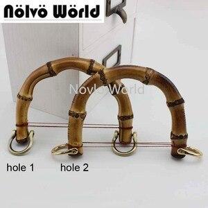 Image 1 - 2 10 20 Stuks, Kleine Size 10X9cm Natuurlijke Bamboe Handvatten Voor Tassen Vervanging, retro Hand Made Gebreide Tas Handtassen Bamboe Handvat