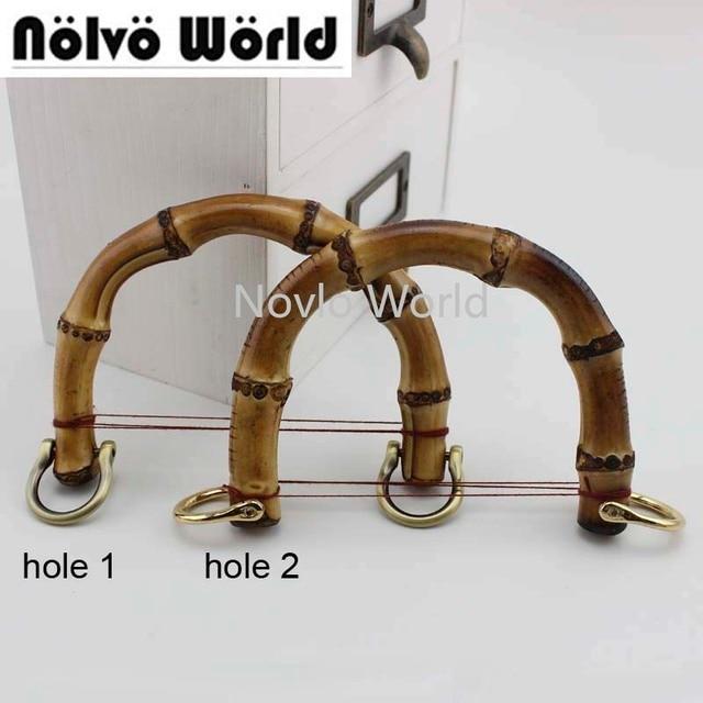 2 10 20 Stuks, Kleine Size 10X9cm Natuurlijke Bamboe Handvatten Voor Tassen Vervanging, retro Hand Made Gebreide Tas Handtassen Bamboe Handvat