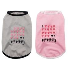 Pet Dog Vest Puppy Red/pink Umbrella Print Comfortable Summe