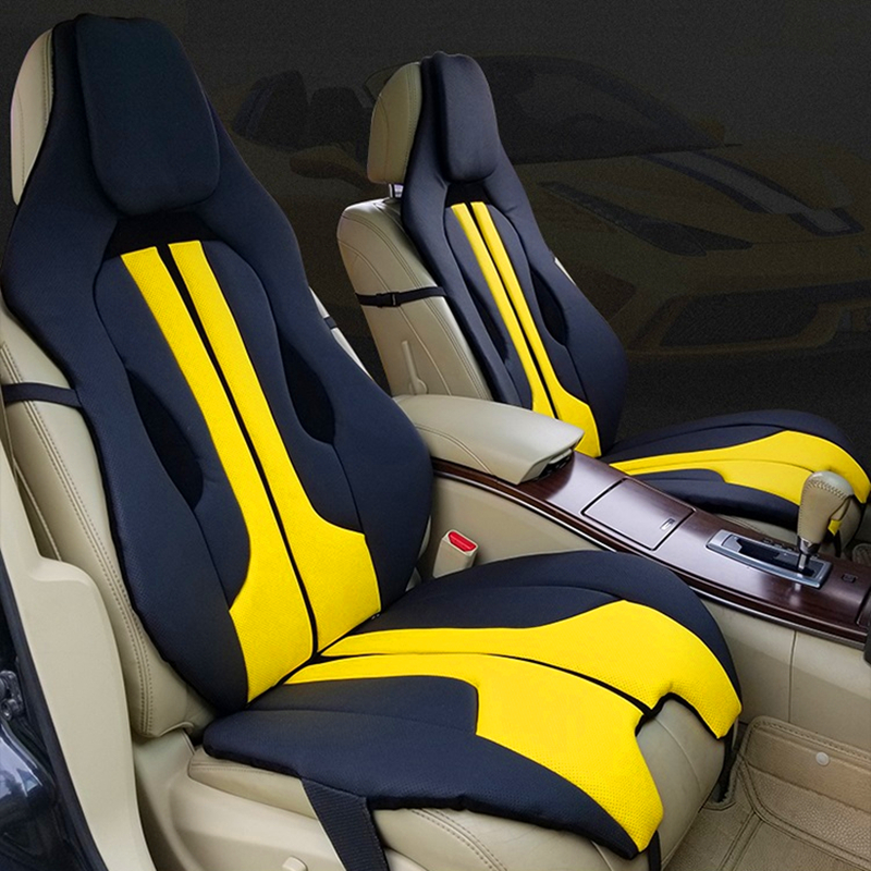 Car Front Seat Cover Soft Interior Accessories Leather Cushion Red White Racing Yellow Universal For Porsche Ferrari Mercedes Automobiles Seat Covers Aliexpress