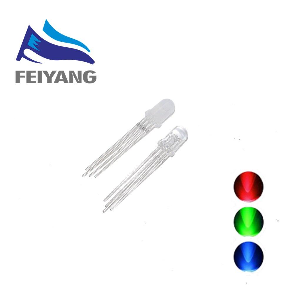 10 шт. 5 мм 4 контакта RGB светодиодный общий катод трехцветные светоизлучающие диоды emitting diode rgb led common cathodecommon cathode   АлиЭкспресс
