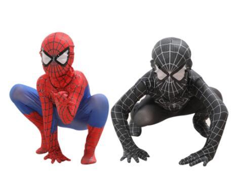 Spitan veneno preto crianças adulto super herói lycra spian herói zentai halloween traje com máscara|Fantasias de filme & TV|   -