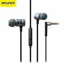 Awei ES 70TY In Ohr Kopfhörer Mit Mikrofon Metall Stereo Kopfhörer Wired Headset Super Bass Kopfhörer für iPhone Samsung Xiaomi