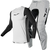 2020 Naughty Fox MX 360 Flexair Dusc Racing Gear Combo MX SX Offroad Dirt Bike Vented Grey Adult Jersey Pant