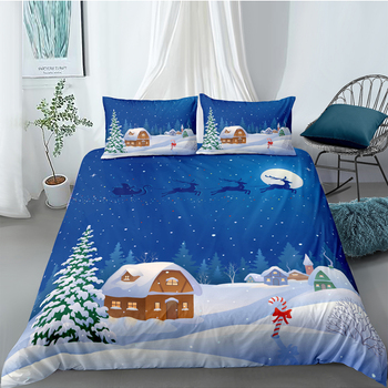 Christmas Eve Bedding Set Queen Cartoon Fashionable Duvet Cover For Kids King Twin Full Single Double Unique Design Bed Set