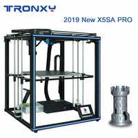 Tronxy X5SA Pro 3D Drucker Verbesserte Titan Extruder Doppel Achse Führungsschiene Bauen Platte Lebenslauf Stromausfall Druck DIY KIT