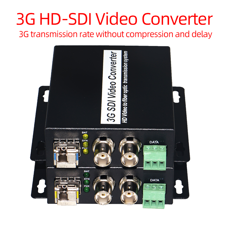 3G HD SDI Video/Audio/RS485 Data Over Fiber Optic Media Converters Transmitter Receiver SDI Fiber Extender Single Fiber SFP LC