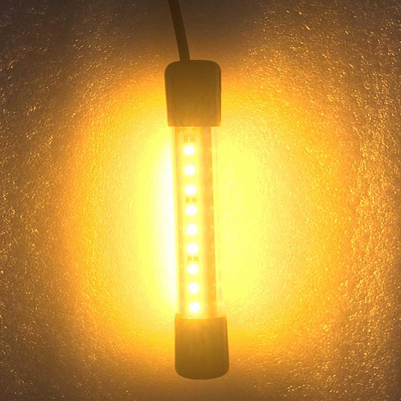 Amarillo WOVELOT 12V 30W Led Luz de Pesca de Noche Submarina Luz de Buscador de Peces con Cable L/ámpara Led Sumergible Luz de Atracci/ón de Peces Calamares de Cebo