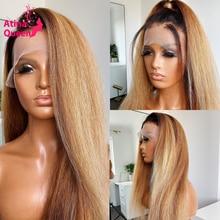 ياكي-شعر مستعار ريمي طبيعي ناعم ، لون مظلل ، أشقر عسلي ، 1b 27 ، 13 × 4 ، عقدة مبيضة ، جذور داكنة ، 4 × 4