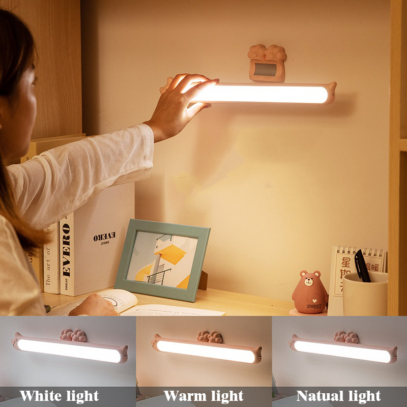 2020 New Arrival Hanging Magnetic Night lights Stepless Dimming Table Lamp 16PCS LED Lamp Chargeable and Eye-protect Desk Lamp