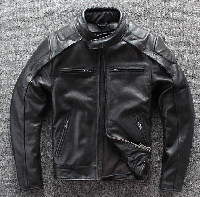 Chaqueta de moto de invierno para hombre, chaqueta de carreras de cuero cálido, forro de chaleco desmontable y equipo de protección, novedad