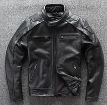 新しい moto rcycle ジャケット冬暖かい真皮 moto ジャケットレーシングジャケット男性のレザージャケット取り外し可能なベスト裏地 + 保護ギア