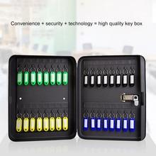 Caja de Seguridad para llaves cerradura de combinación de oficina de seguridad gabinete metálico de almacenamiento Contraseña de coche reiniciable código organizador montado en la pared bloqueable