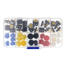 25 шт. Тактильные Кнопочный переключатель мгновенный 12*12*7,3 мини-выключатель Кнопка+ 25 шт. такт крышка(5 цветов