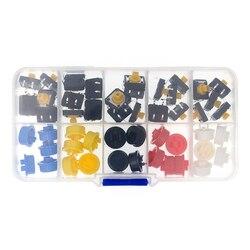 25 pièces Tactile bouton poussoir momentané 12*12*7.3MM Micro bouton de commutation + 25 pièces Tact Cap (5 couleurs)