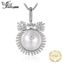 Zodiac Leo Shell Pearl Pendant Necklace 925 Sterling Silver Choker Statement Women Jewelry Without Chain