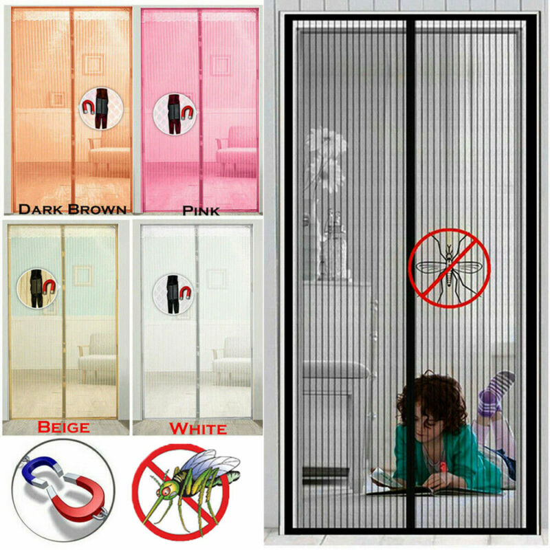 New Magnetic Insect Magic Door Net Screen Bug Mosquito Fly Insect Curtain Mesh Guard Door Screens