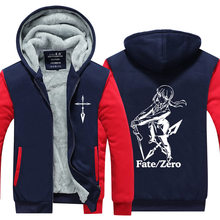 Jacket Men Warm Fleece Zipper Coat 2019 Winter Thick Mens SportWear Tracksuit Male European Hoodies Fate Zero Cosplay Costume