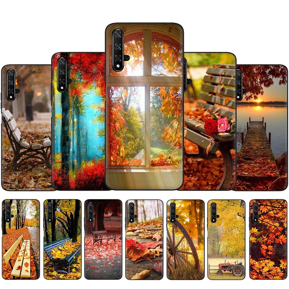 Силиконовый чехол для Huawei Честь 6A 7X 8C 8X 8A 8 9 10 Lite вид 20 30 V30 9X Pro 20S задняя крышка поздней осени|Бамперы|   | АлиЭкспресс