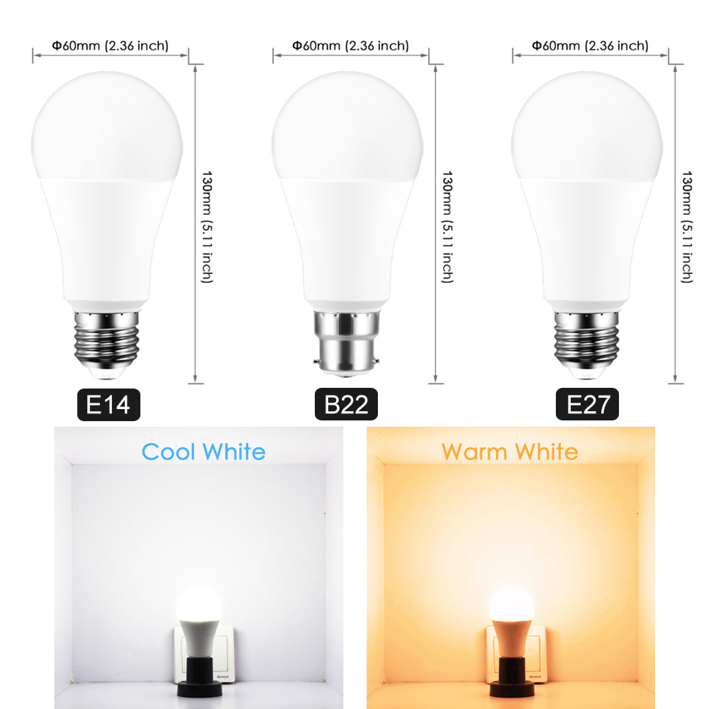 <font><b>LED</b></font> WiFi Smart Bulb 220V E27 B22 <font><b>E14</b></font> Dimmable RGBW Lamp Work Google Assistant Voice And APP Control Smart Home Bulb Light image