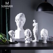 Nordic Art Simple Retro Sketch Head Model Room Three-Dimensional David Classic Character Home Decoration Statue Gift