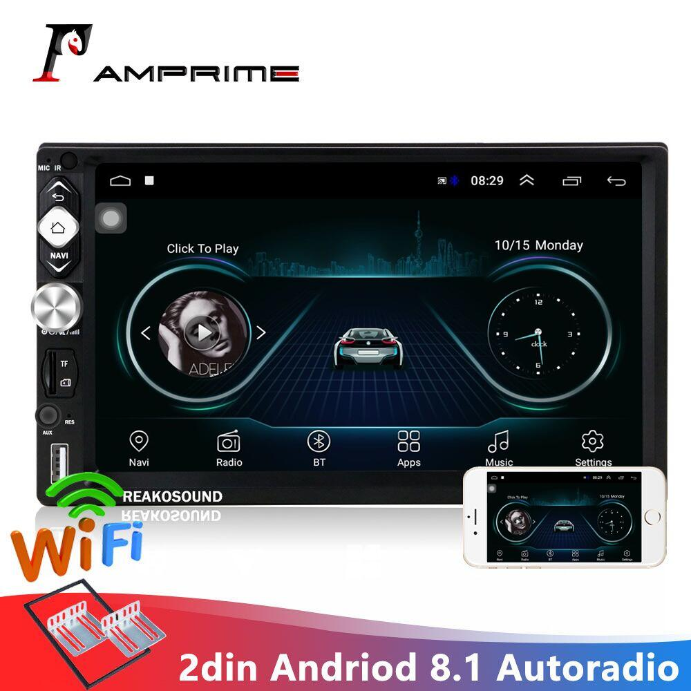 AMPrime 7 ''<font><b>2</b></font> <font><b>Din</b></font> <font><b>Autoradio</b></font> Andriod 8,1 Auto Multimedia-Player GPS Navigation <font><b>Bluetooth</b></font> Audio Wifi USB FM MirrorLink Auto radio image