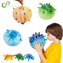 Детские забавные игрушки динозавров, тревога, стресс, облегчение, надувной воздушный шар с динозавром, сжимающий шар, детские Новые Вечерние подарки ZXH