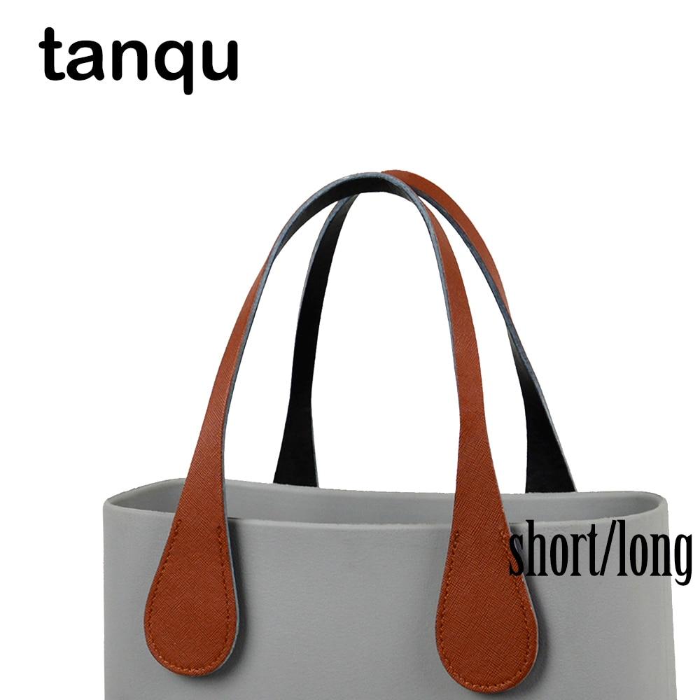 Tanqu Short Long Extra Slim Teardrop End Handles Faux Leather Handles For OBag For EVA O Bag Body