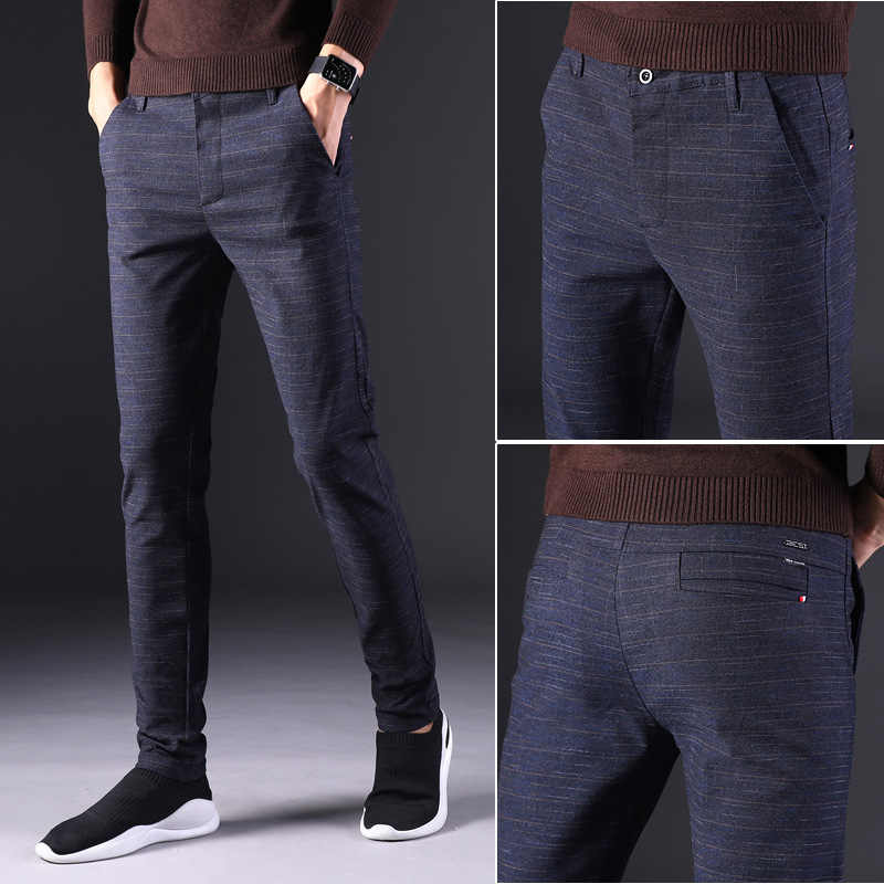 Pantalones De Vestir Para Hombre Pantalon De Negocios Estilo Clasico Para Primavera Y Otono 2020 Pantalones Informales Aliexpress