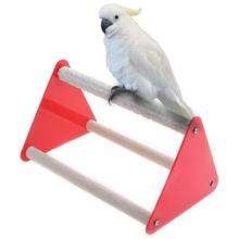 Parrot Bird Perch Stand Bite Grinder Claw Rubber Toys Ladder Acrylic Pet Entertaining Hanging Cage Product
