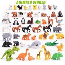 Brinquedos série animal grandes figuras blocos de construção animais presentes educativos compatíveis tamanho grande brinquedos para crianças presente natal