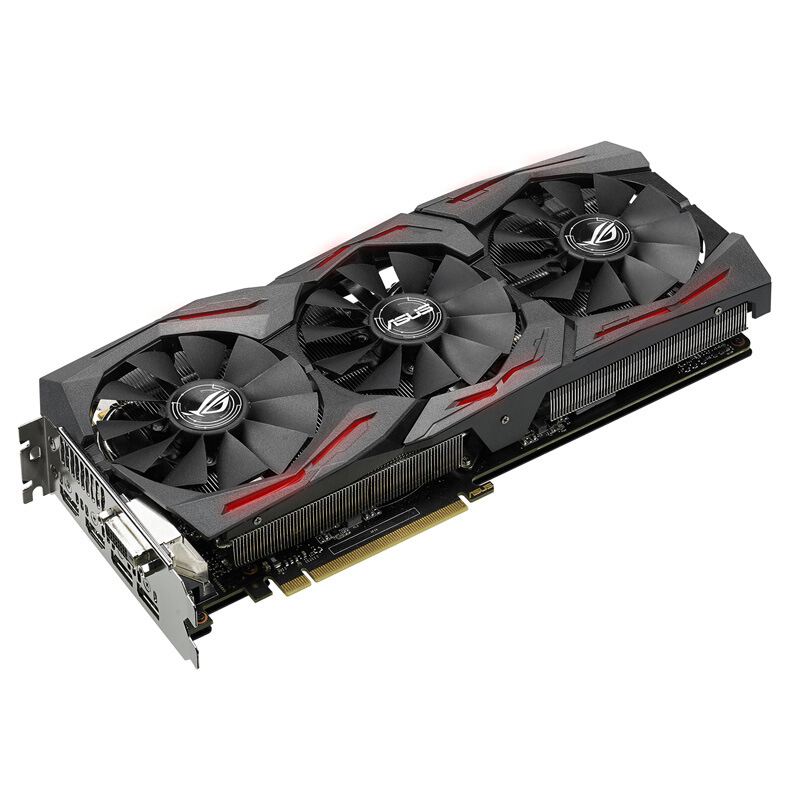 ASUS ROG-STRIX-RX590-8G-GAMING Game Graphics Used Original 90%new