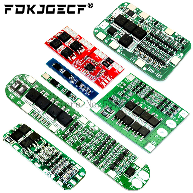 1S 2S 3S 4S 5S 6S 3A 15A 20A 30A Li-ion Lithium Battery 18650 Charger PCB BMS Protection Board For D