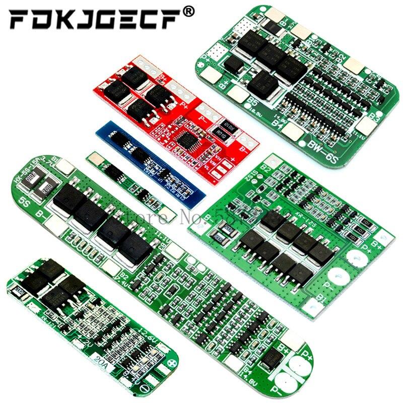 1S 2S 3S 4S 5S 6S 3A 15A 20A 30A литий-ионный аккумулятор 18650 зарядное устройство PCB плата защиты BMS для электродвигателя Lipo Cell Module