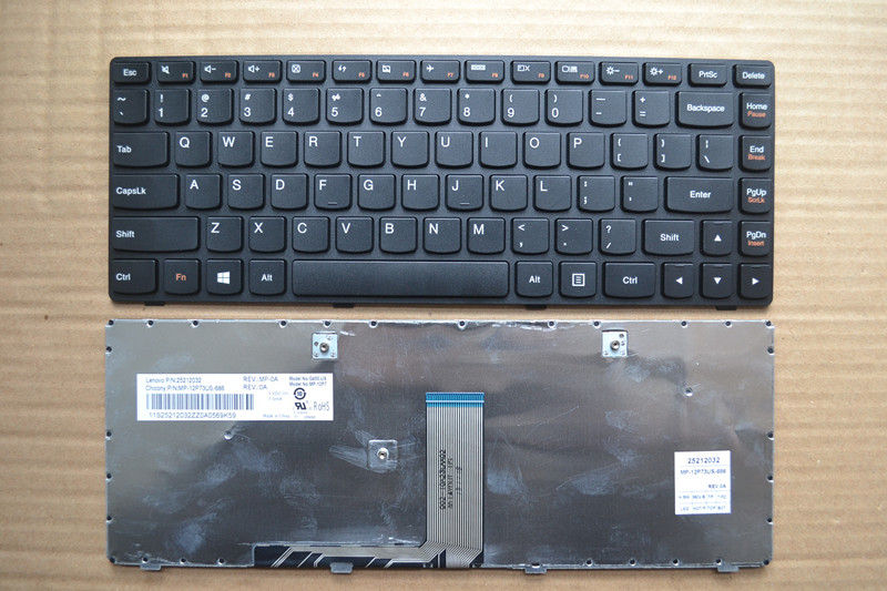 US new laptop <font><b>keyboard</b></font> for <font><b>Lenovo</b></font> G400 G405 G400 <font><b>G410</b></font> G405 G490 English layout image