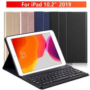 Image 1 - Manyetik klavye durumda iPad 10.2 2019 için Apple iPad 7 7th nesil koruyucu Tablet kapak funda çapa