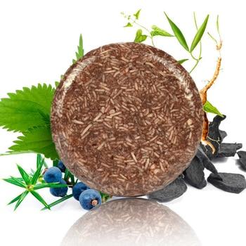 100% Natural Organic Conditioner Soap Hair Darkening Shampoo Moisturize Repair Gray White Hair Color Dye Treatment Bamboo 1