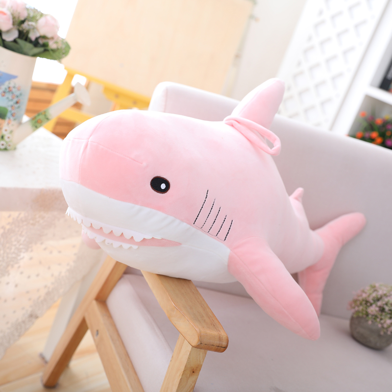 Plush Stuffed Toy Kids Shark Cushion Pillows Decorative  Short Animal Reading Pillow Toys Home Decor Girls Gifts